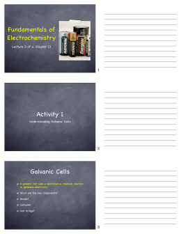 Chem 214 CH 13 Fundamentals of Electrochemistry Lecture 2