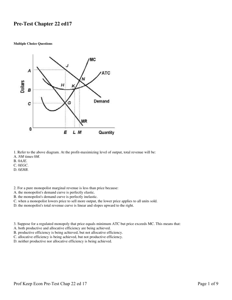 Pre-Test Chapter 22 ed17