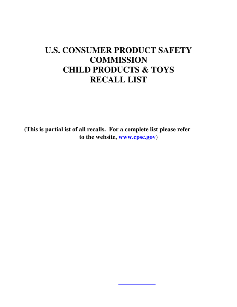 News From Cpsc Us Consumer Product Safety Commission