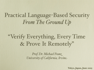 "Practical Language-Based Security From The Ground Up ""Verify"