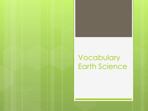 Vocabulary Earth Science