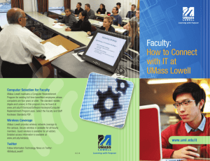 Faculty: How to Connect with IT at UMass Lowell