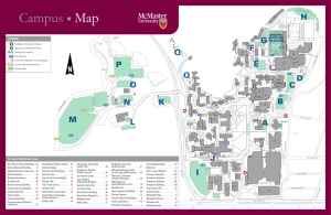 Map Campus - souscc - McMaster University