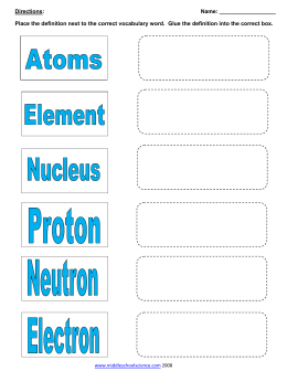 Hw answers element puns worksheet atoms vocab pg 1 urtaz Choice Image