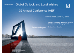 Global Outlook and Local Wishes 32 Annual Conference IAEF