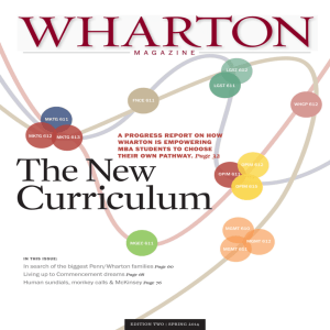 A PROGRESS REPORT ON HOW WHARTON IS EMPOWERING