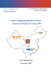 Online-Shopping Market in China