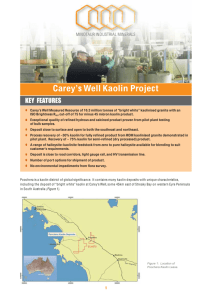 Carey's Well Kaolin Project