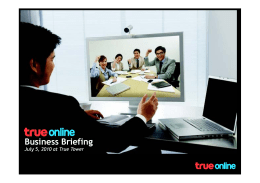 TrueOnline Business Briefing