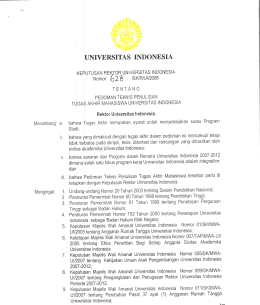 Pedoman UI  - Universitas Indonesia