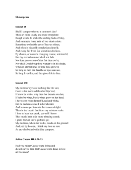 Shakespeare Sonnet 18 - Gordon State College
