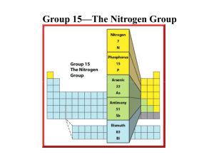 Group 15—The Nitrogen Group