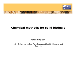 Chemical methods for solid biofuels