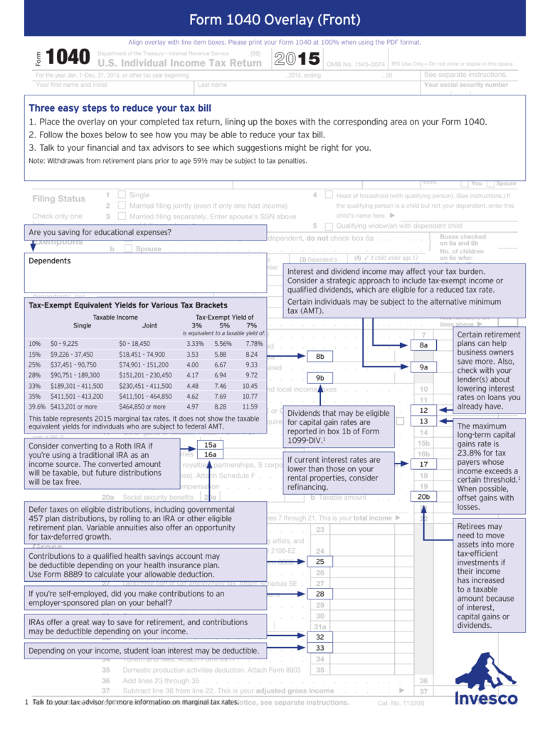 Form 1040 Overlay