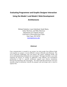 Evaluating Programmer and Graphic Designer Interaction Using the