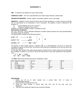 determination of acidity and alkalinity of water pdf