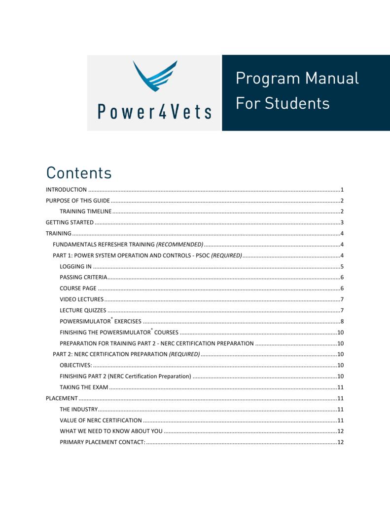 Power4vets Program Manual