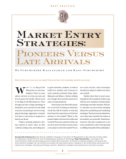 Market Entry Strategies - Wright State University