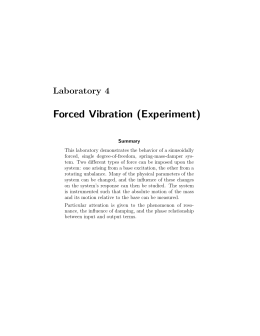 Forced Vibration (Experiment)