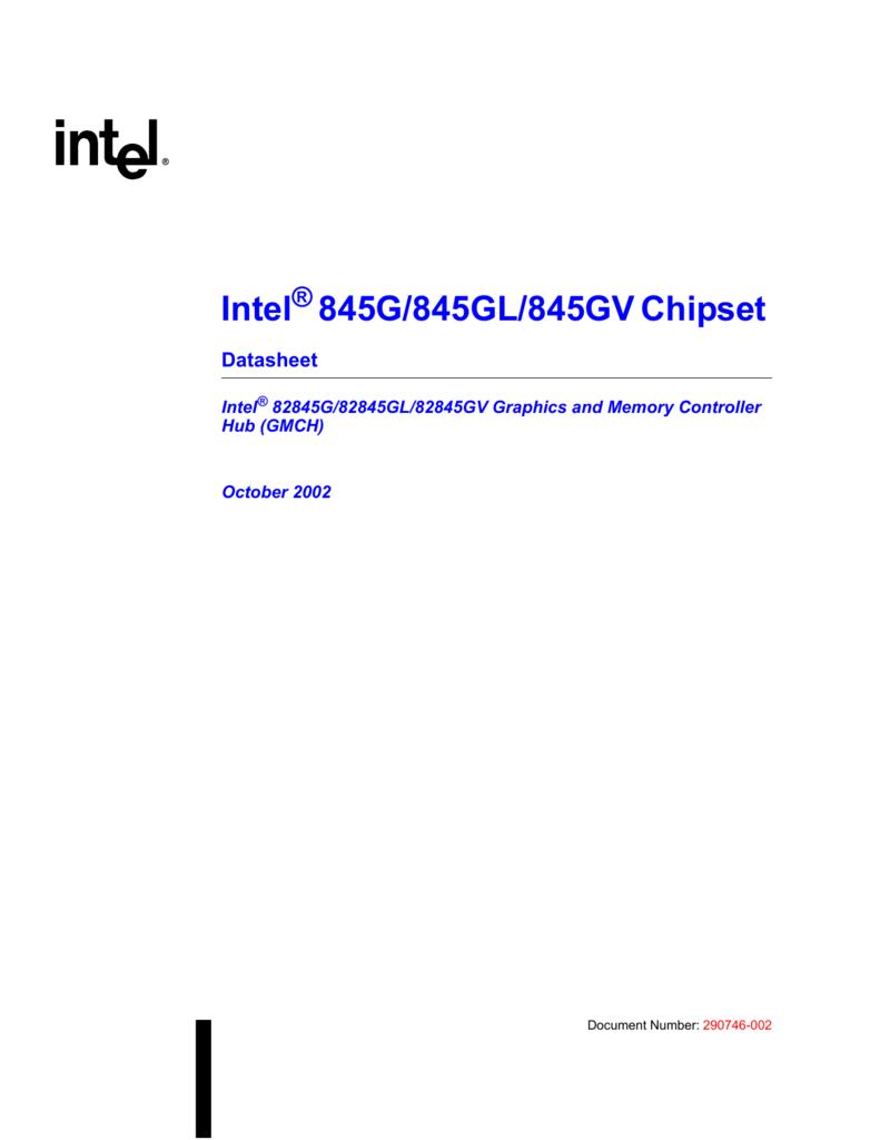 NEW DRIVER: INTEL 82845G GL GV