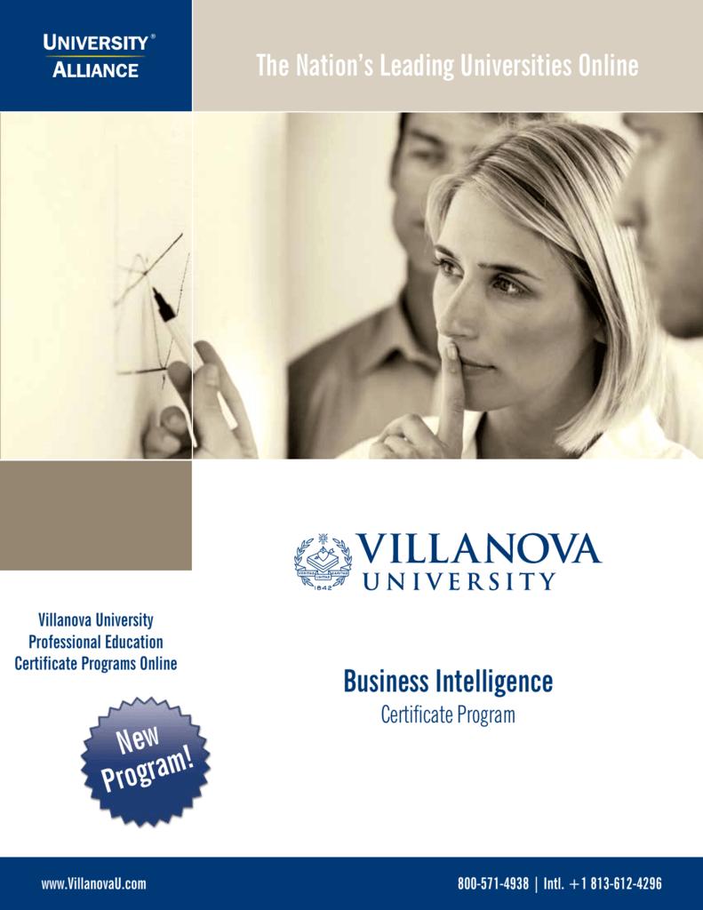 Villanova Certificate Programs Best Design Sertificate 2018