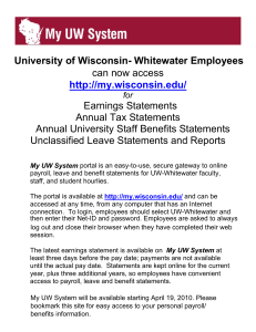 My UW System - University of Wisconsin Whitewater