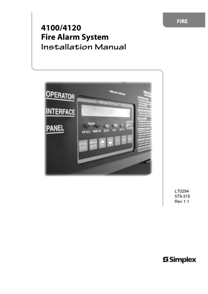 lt0294 4100 4120 as4428 1 installation rh studylib net Annunciator Simplex 4002 Simplex 4100 Fire Alarm Control