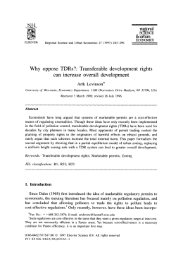 Transferable development rights can increase overall development
