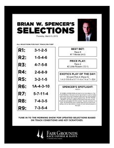 selections - Fair Grounds Race Course