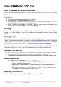 MikroTik RouterOS™ v3 0