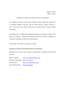 Completion of Temporary Reciprocal Currency Arrangements [PDF