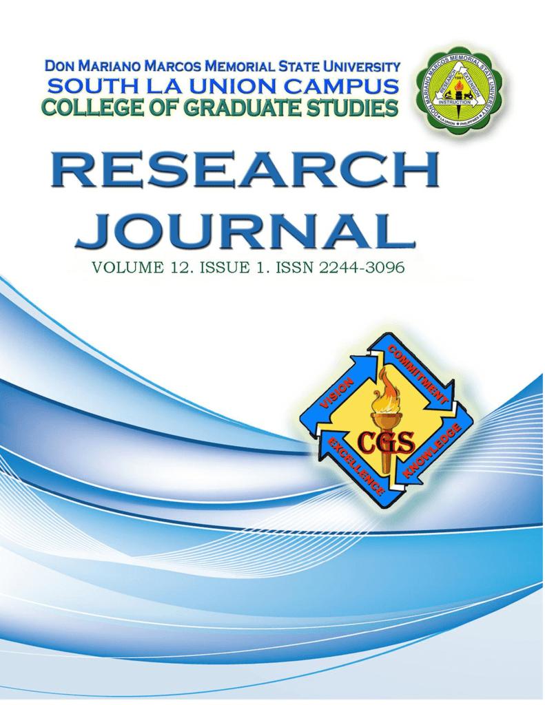 college of graduate studies issn 2244-3096