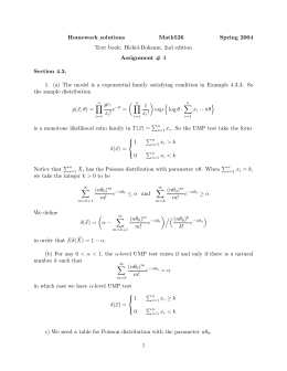 Homework solutions Math526 Spring 2004 Text book: Bickel