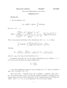 Homework solutions Math525 Fall 2003 Text book: Bickel