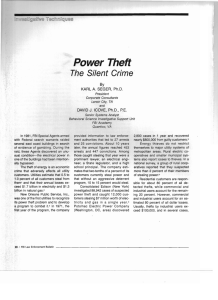 Power Theft: The Silent Crime
