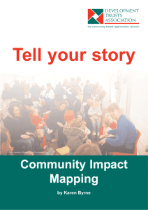 Community Impact Mapping What is it?