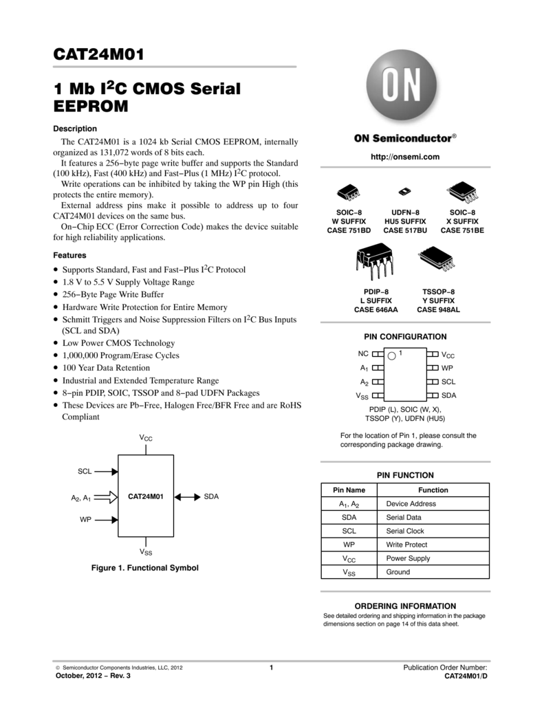 CAT24M01 - 1 Mb I2C CMOS Serial EEPROM