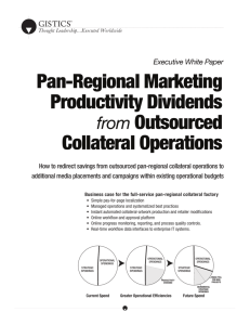 Pan-Regional Marketing Productivity Dividends from Outsourced