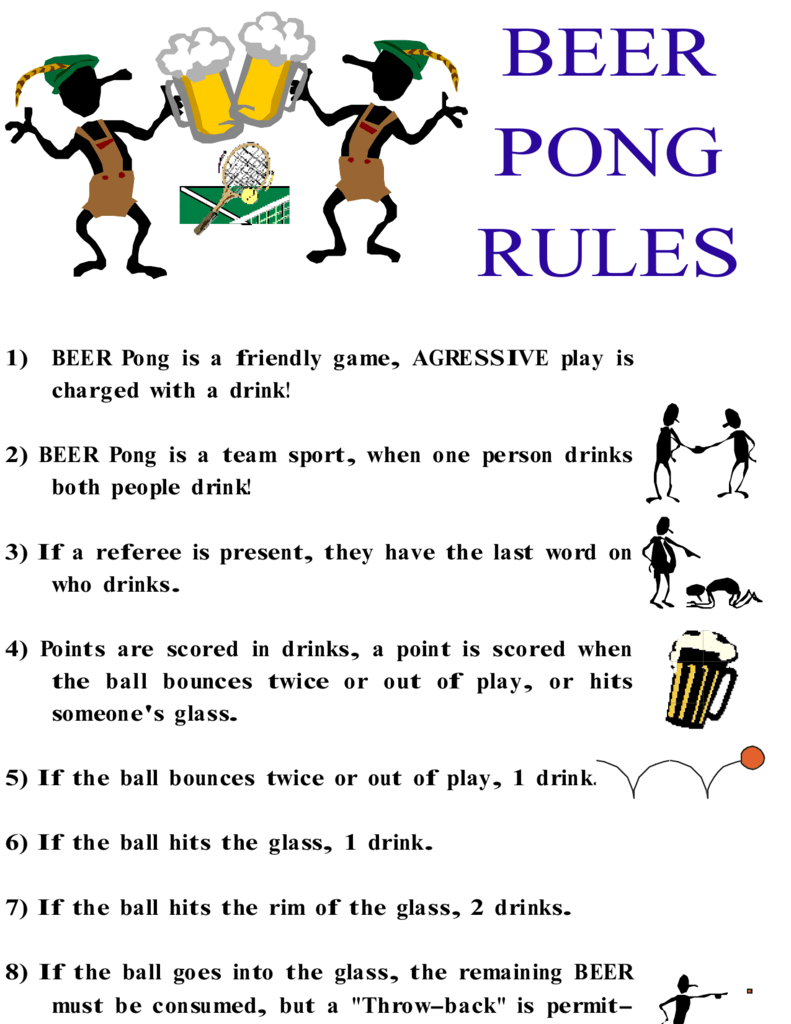 Rules Beerpong Org