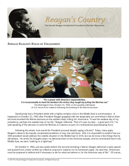 Ronald Reagan's Rules of Engagement