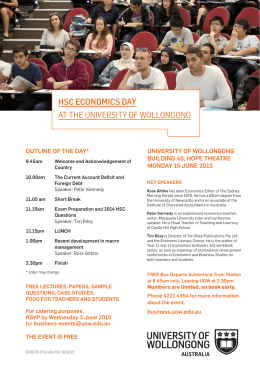 hsc economics day at the university of wollongong