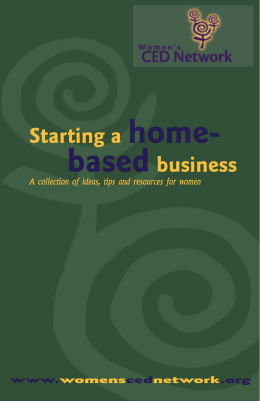 Starting a home- basedbusiness