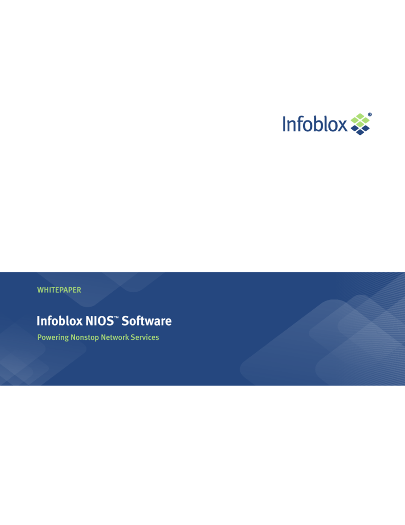 Infoblox NIOS™ Software