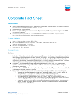 Chevron Corporate Fact Sheet