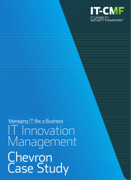 IT Innovation Management Chevron Case Study