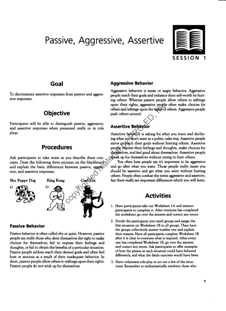 Passive, Aggressive, Assertive - Pro-Ed