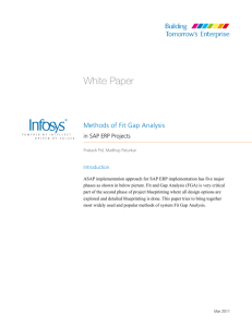 Methods of Fit Gap Analysis in SAP ERP Projects