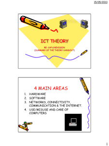 Information & Communication Technology Theory Notes