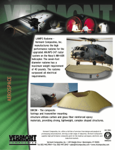 VCI Aerospace Brochure - Vermont Composites, Inc.