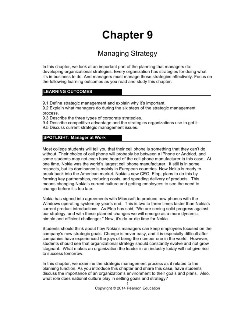 nokia strategic management case essay